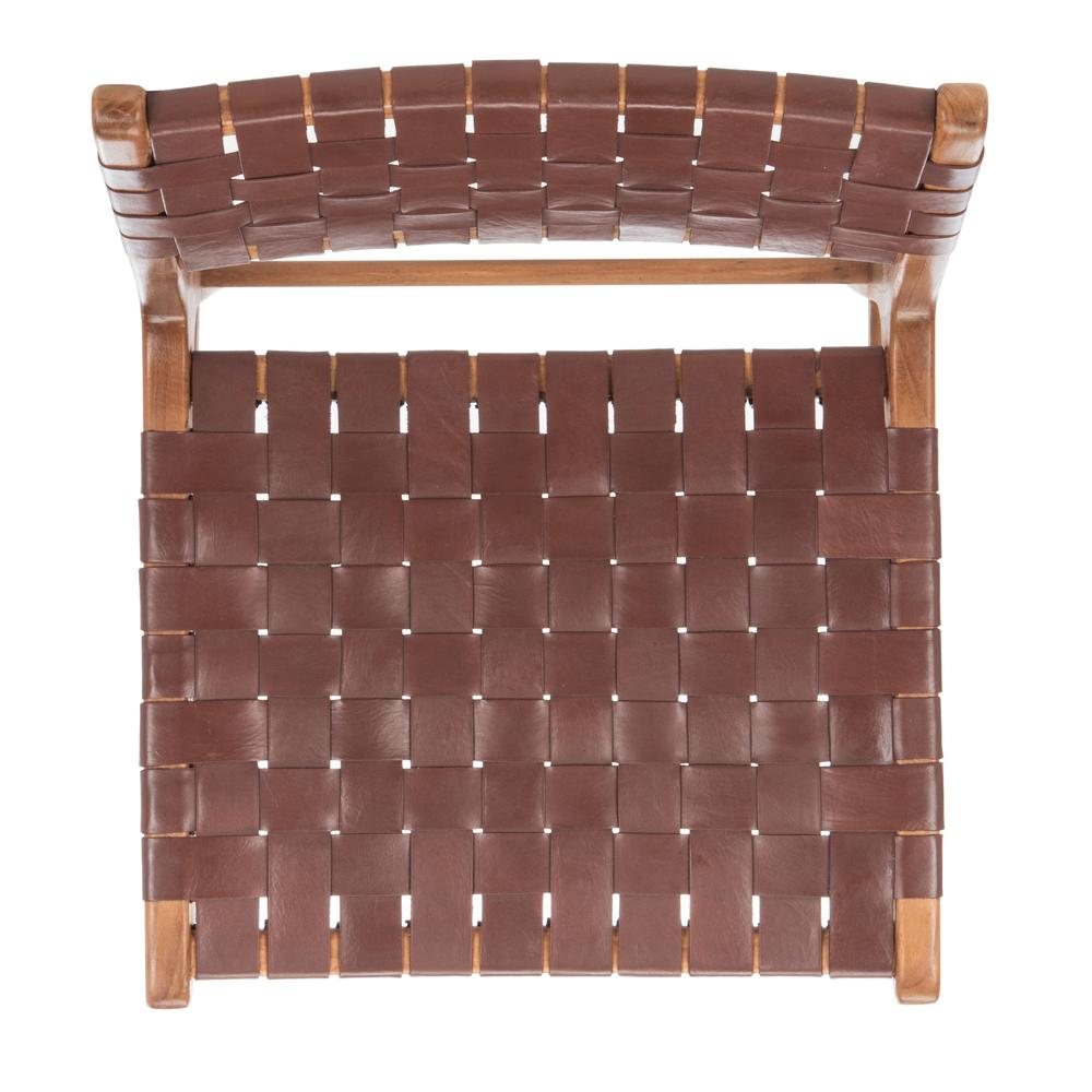 Taika Woven Leather Dining Chair, Cognac/Natural. Picture 12
