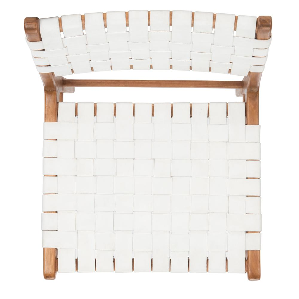 Taika Woven Leather Dining Chair, White/Natural. Picture 10