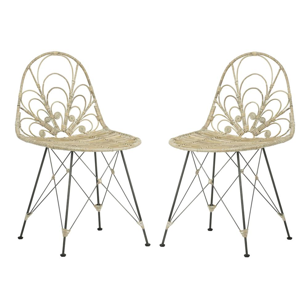 MADELINE RATTAN DINING CHAIR. Picture 1