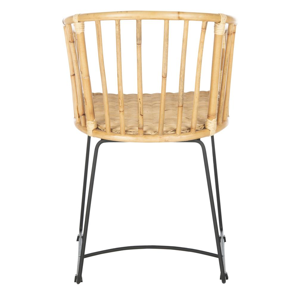 Siena Rattan Barrel Dining Chair, Natural/Black. Picture 2