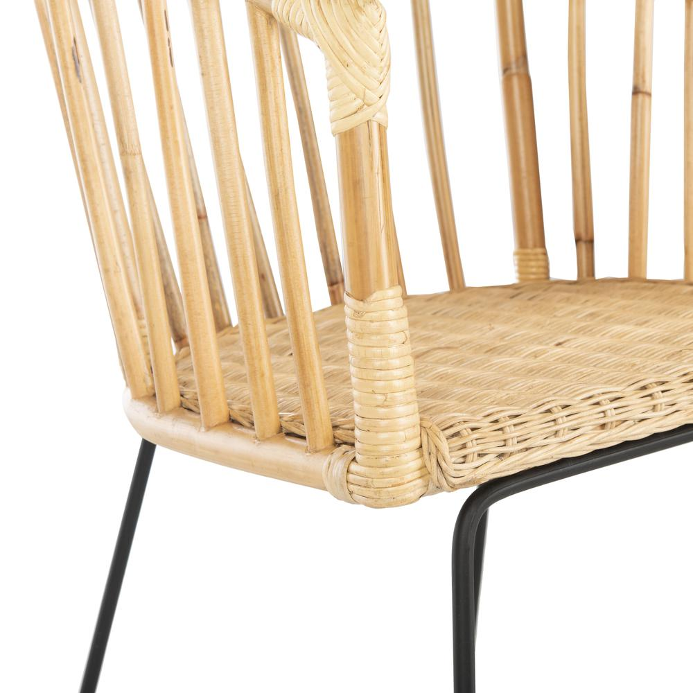 Siena Rattan Barrel Dining Chair, Natural/Black. Picture 5