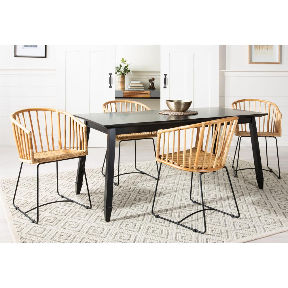 Siena Rattan Barrel Dining Chair, Natural/Black. Picture 11