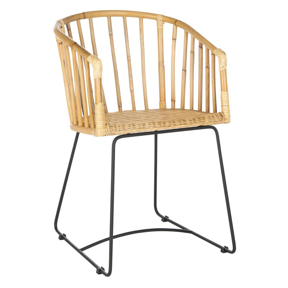 Siena Rattan Barrel Dining Chair, Natural/Black. Picture 14