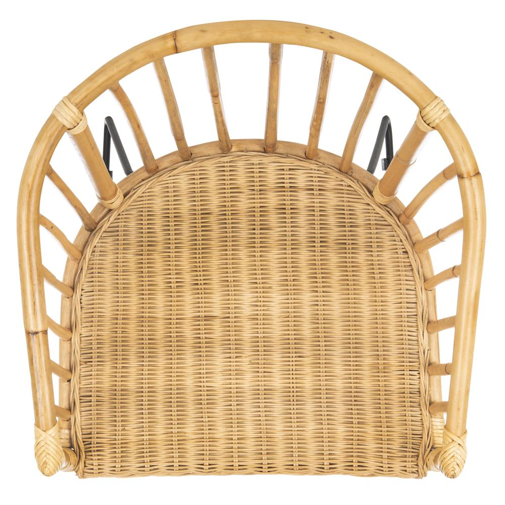 Siena Rattan Barrel Dining Chair, Natural/Black. Picture 17