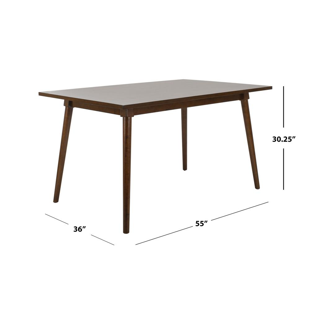 Tia Rectangle Dining Table, Walnut. Picture 3