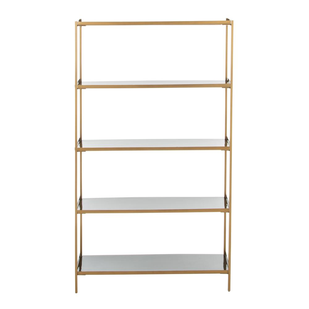 Justine 5 Tier Etagere, Black/Brass. Picture 2