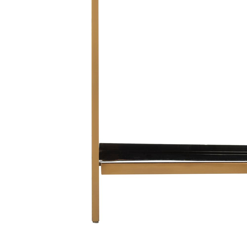 Justine 5 Tier Etagere, Black/Brass. Picture 6
