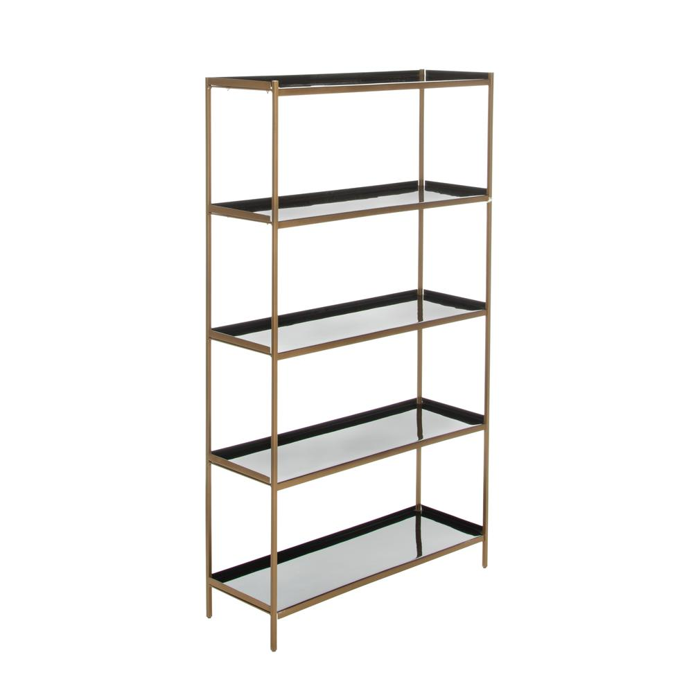 Justine 5 Tier Etagere, Black/Brass. Picture 8