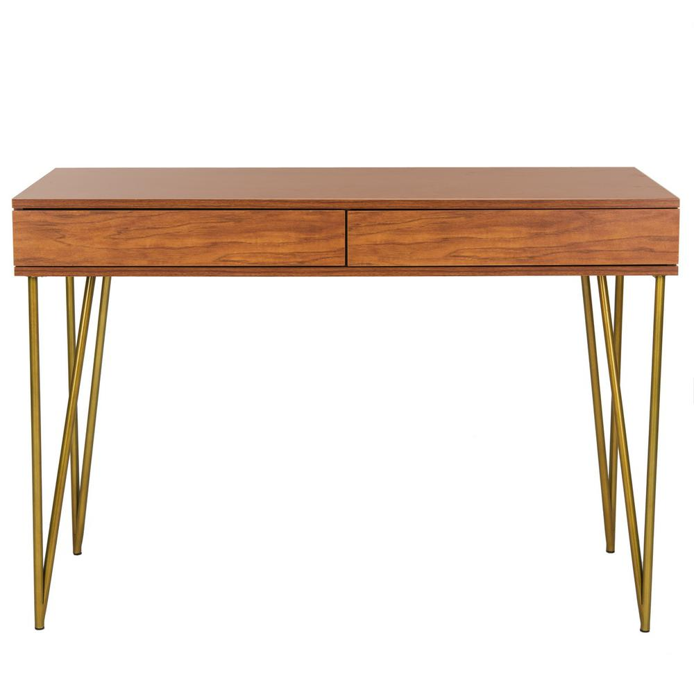PINE TWO DRAWER DESK, FOX2238A. Picture 1