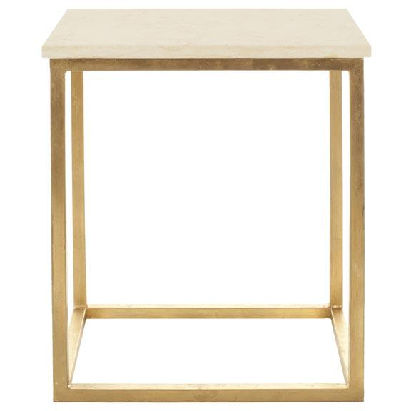 TAD FAUX MARBLE GOLD FOIL ACCENT TABLE. Picture 1