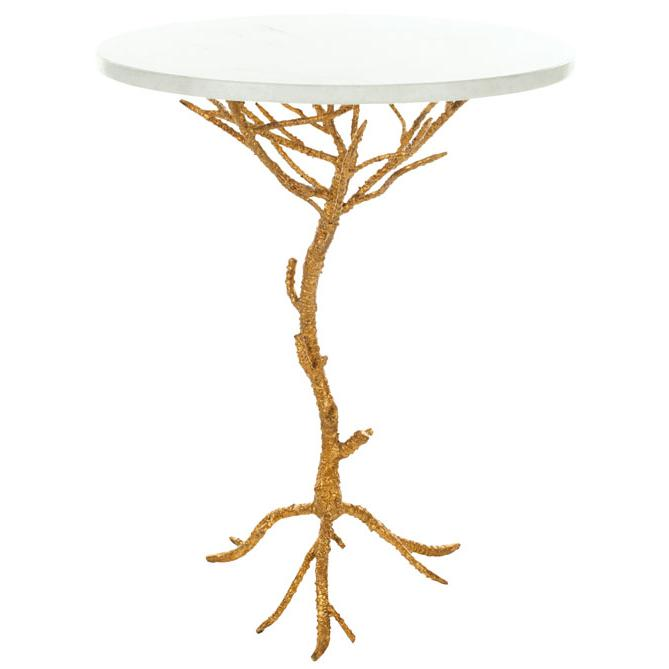 CAROLYN ROOTED GOLD ACCENT TABLE. Picture 1