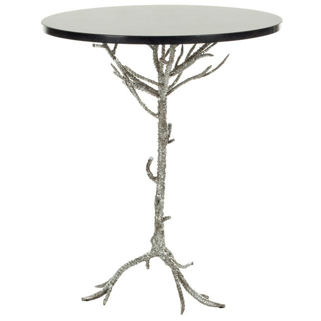 CAROLYN ROOTED SILVER ACCENT TABLE. Picture 1
