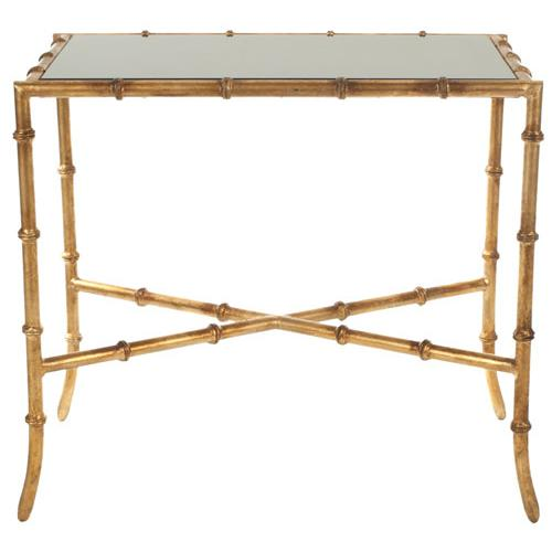 CHANDLER GOLD CROSS BASE ACCENT TABLE. Picture 1