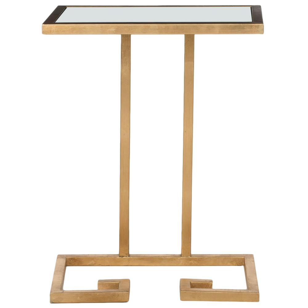 MURPHY GOLD LEAF ACCENT TABLE, FOX2529A. Picture 1