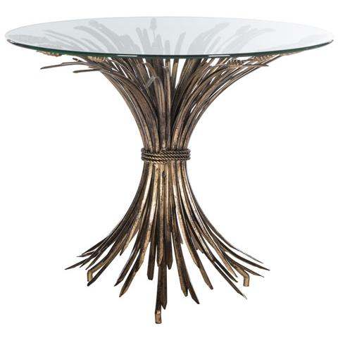 AYRIS SHEAF GOLD LEAF ACCENT TABLE. Picture 1