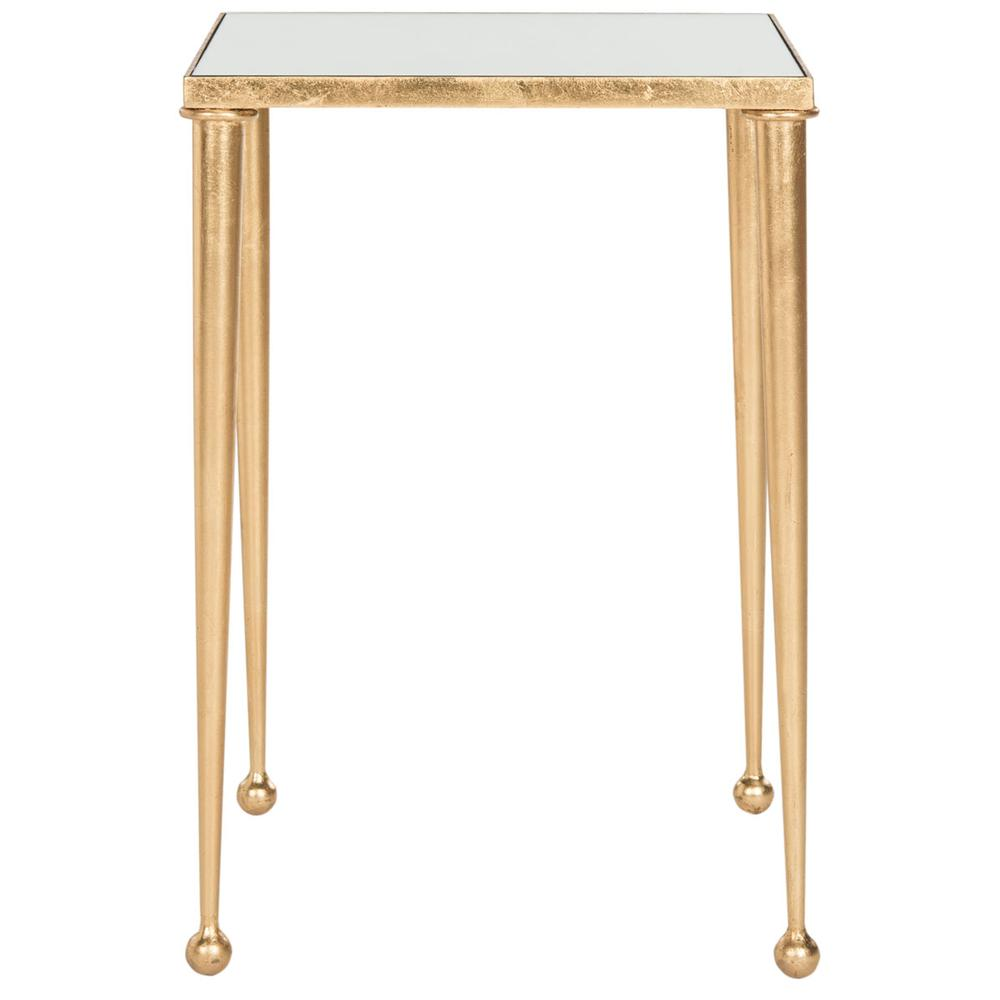 NYACKO MIRROR TOP GOLD LEAF END TABLE. Picture 1