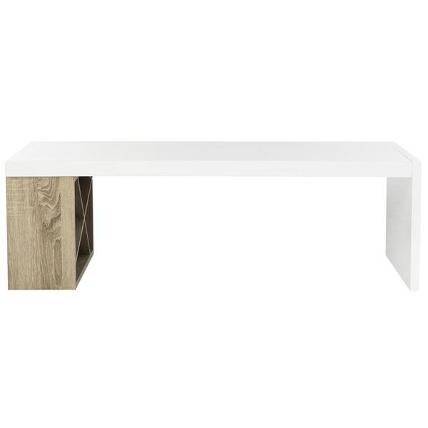 CARLTON MODERN SCANDINAVIAN SIDE STORAGE LACQUER COFFEE TABLE. Picture 1