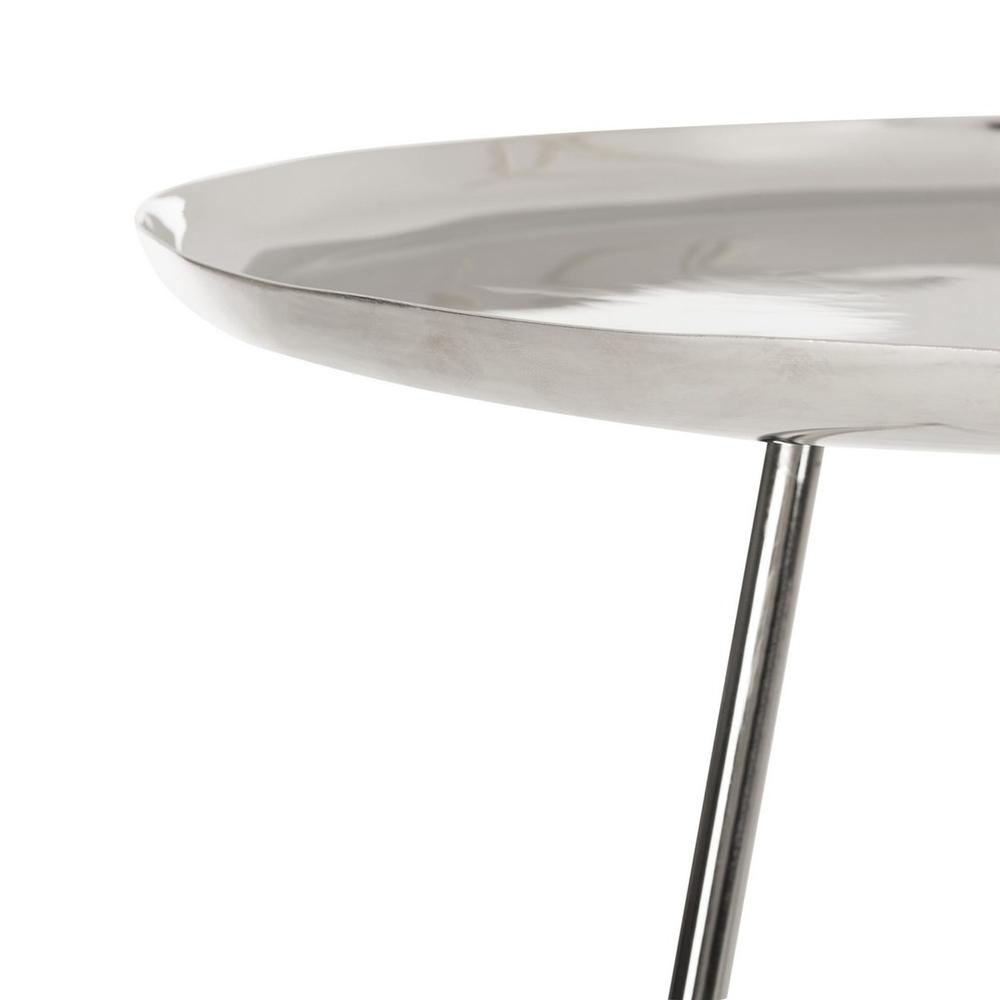 CALIX TRI LEG CONTEMPORARY GLAM SIDE TABLE, FOX4527A. Picture 1