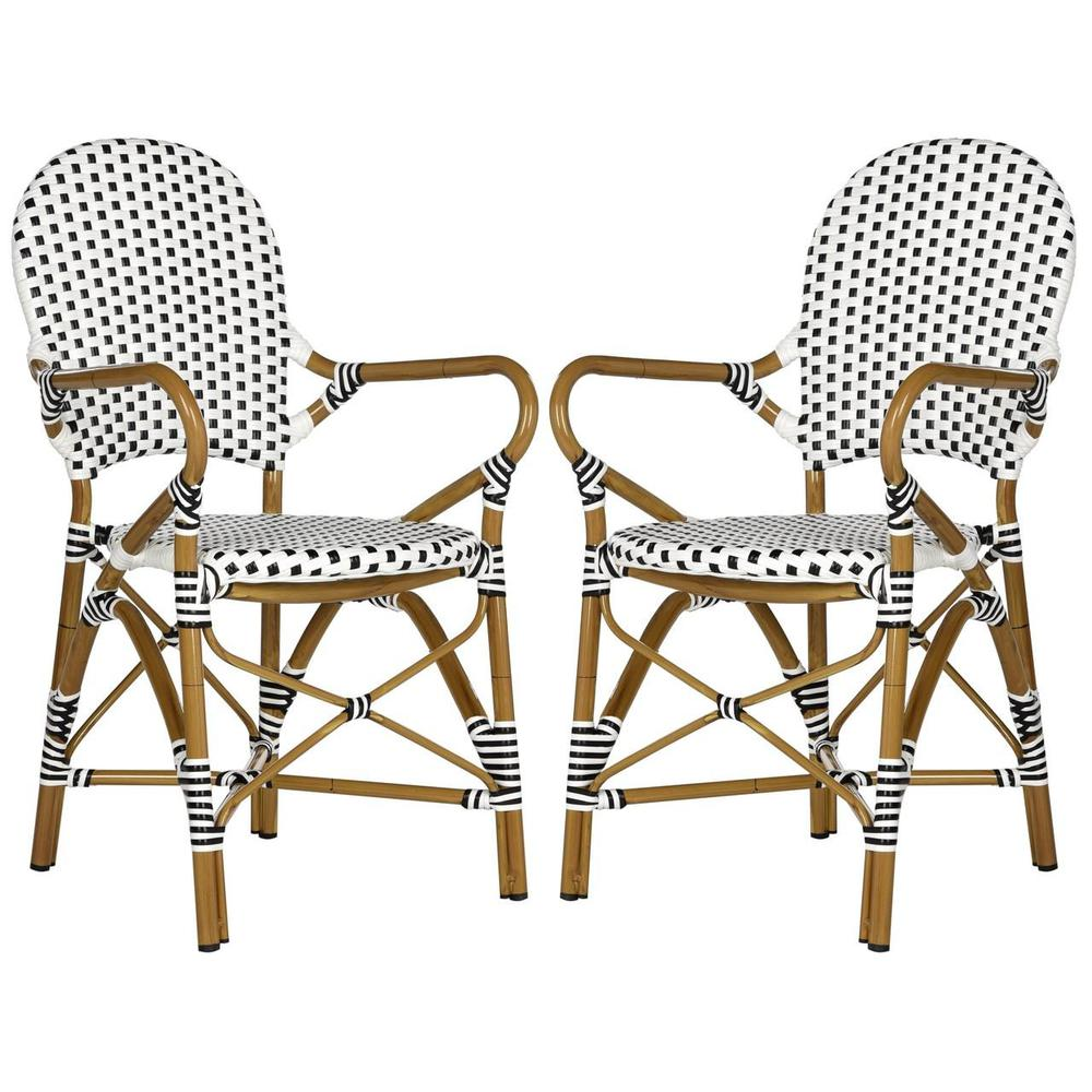 HOOPER INDOOR-OUTDOOR STACKING ARM CHAIR, FOX5209E-SET2. Picture 1