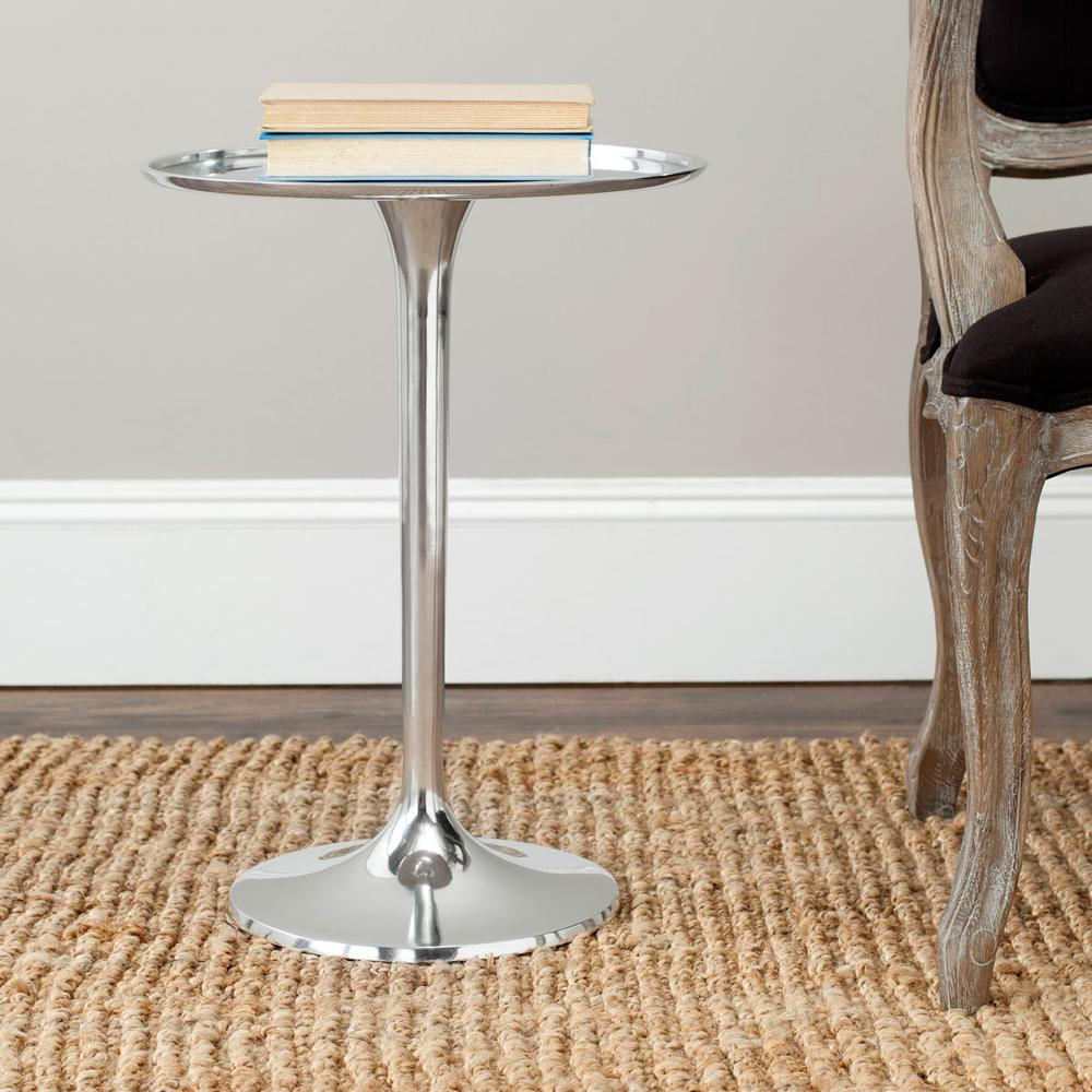 PLATINA ROUND TOP SLEEK TABLE. Picture 1