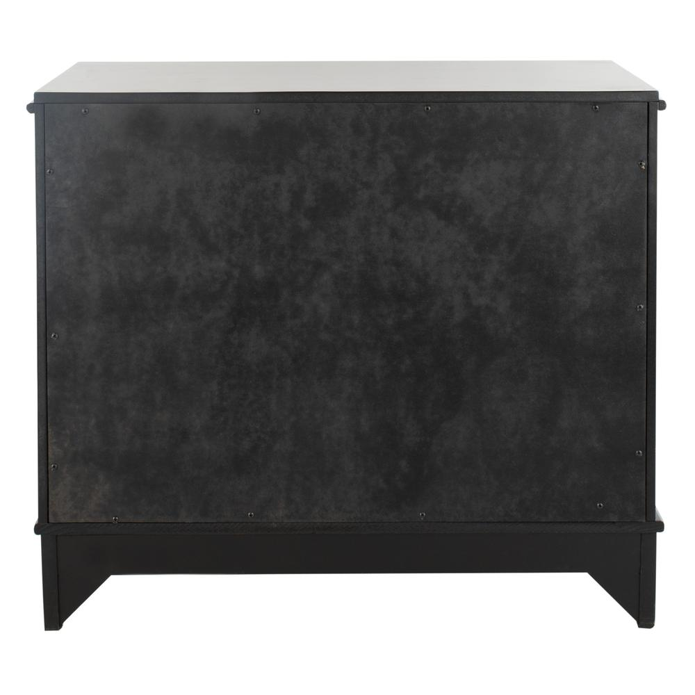 Hannon 3 Drawer Contemporary Nightstand, Black. Picture 2