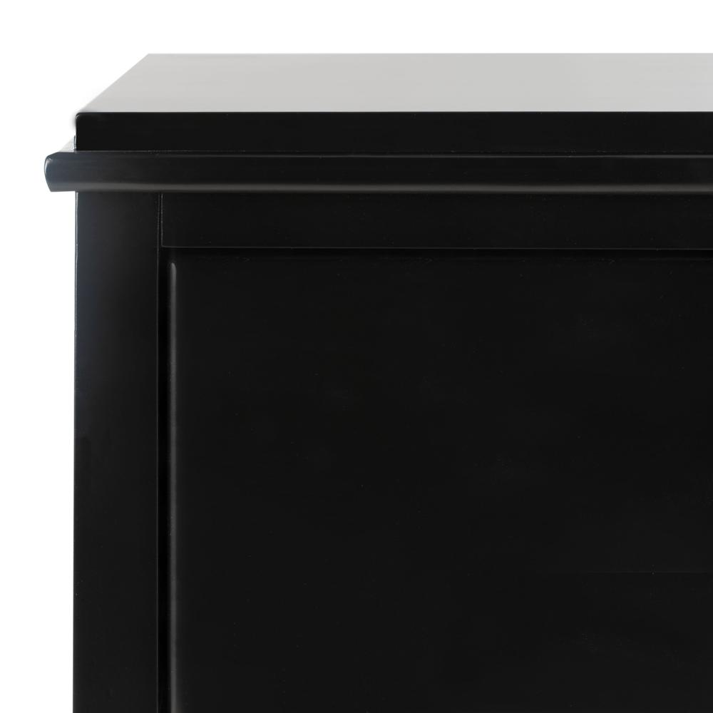 Hannon 3 Drawer Contemporary Nightstand, Black. Picture 4