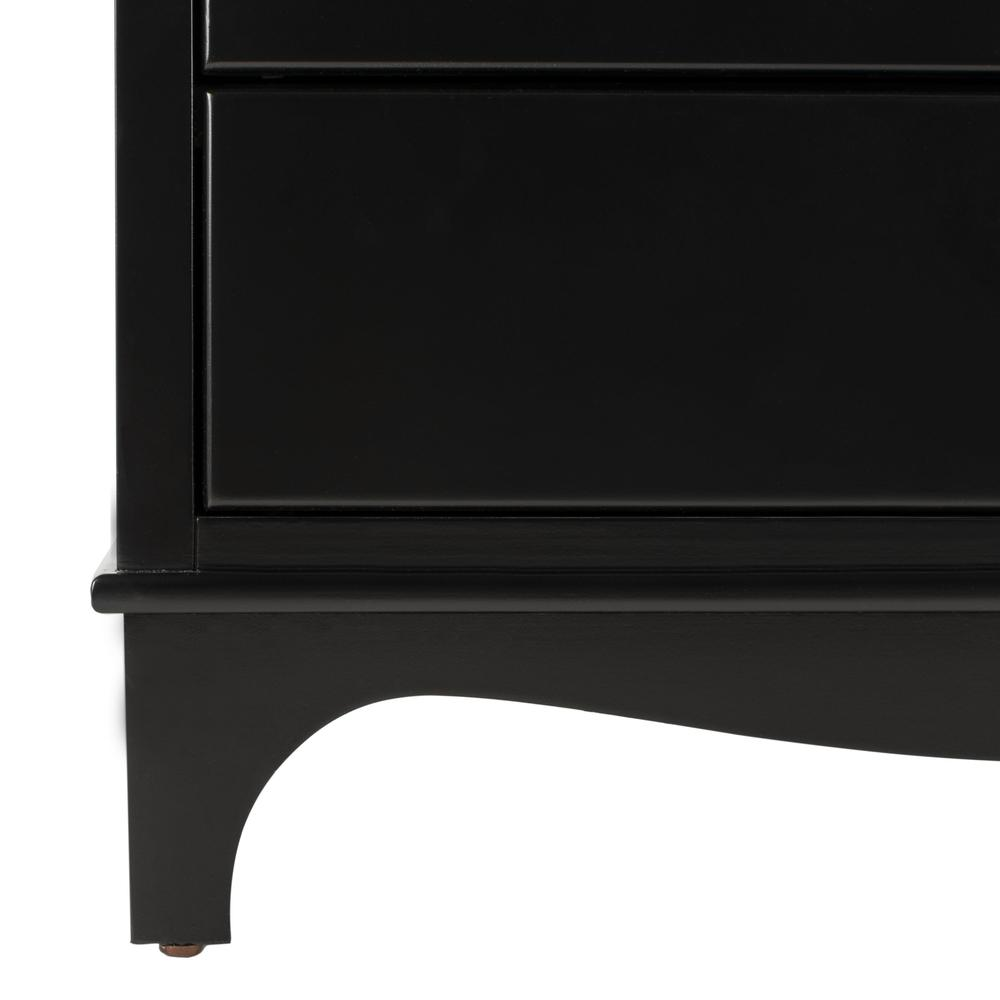 Hannon 3 Drawer Contemporary Nightstand, Black. Picture 8