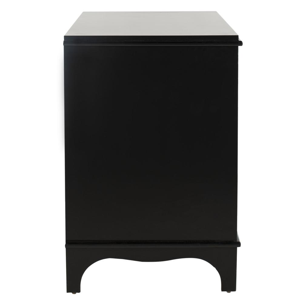 Hannon 3 Drawer Contemporary Nightstand, Black. Picture 14