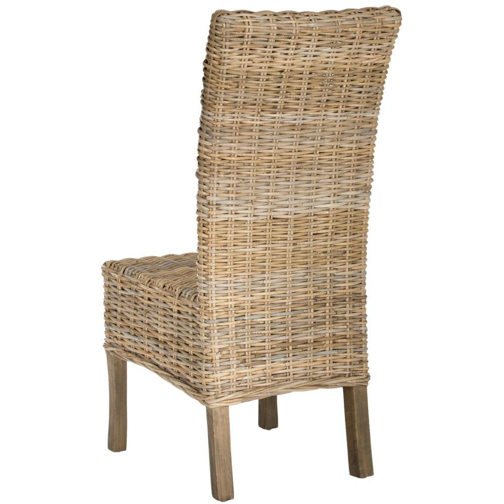 QUAKER 19''H RATTAN  SIDE CHAIR. Picture 1