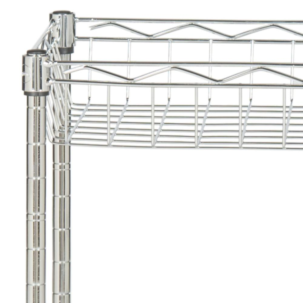 MARIO 4 TIER CHROME WIRE BASKET RACK HAPPIMESS BY SAFAVIEH (23.6 in. W x 13.8 in. D x 47.2 in. H). Picture 1