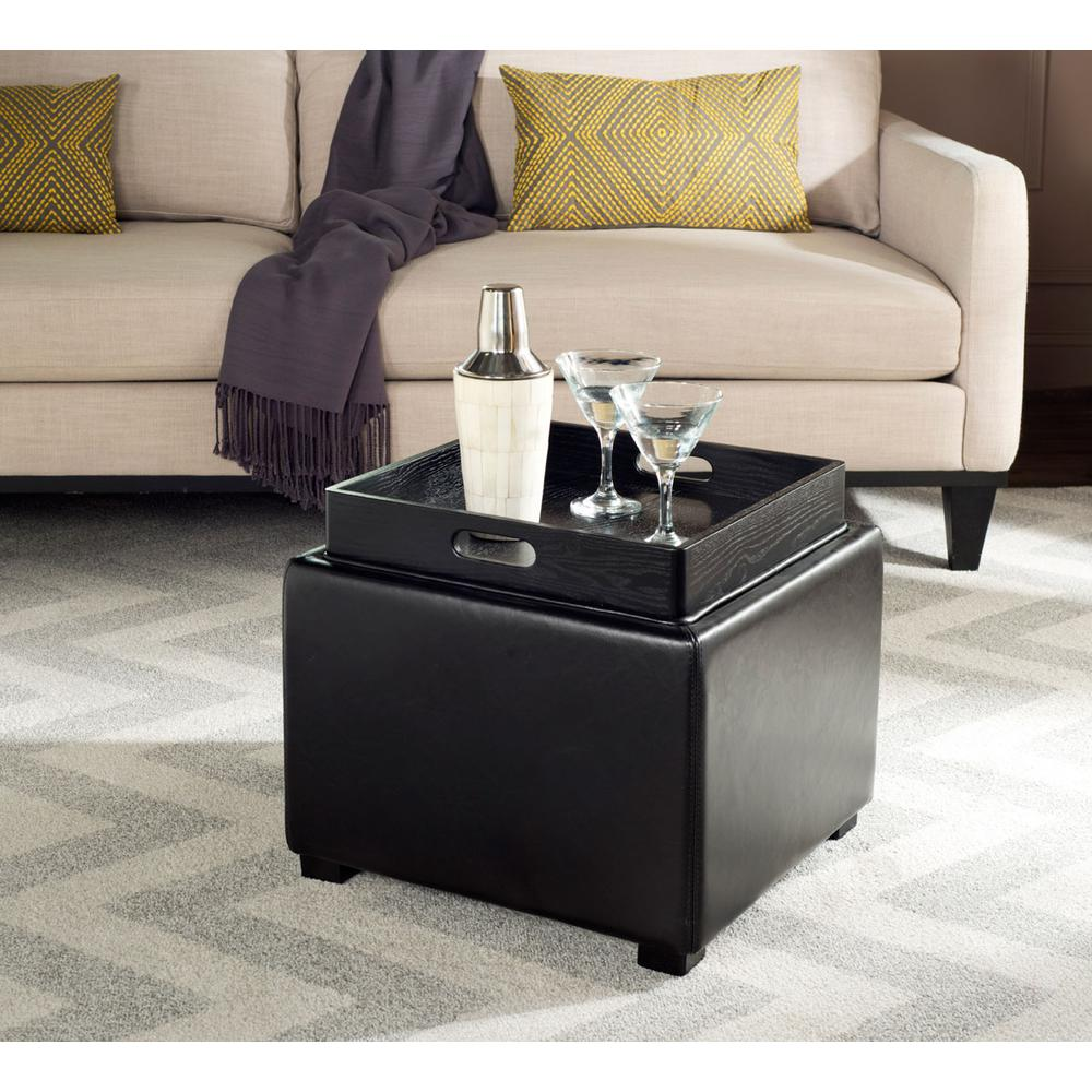 BOBBI TRAY STORAGE OTTOMAN, HUD4006B. Picture 1