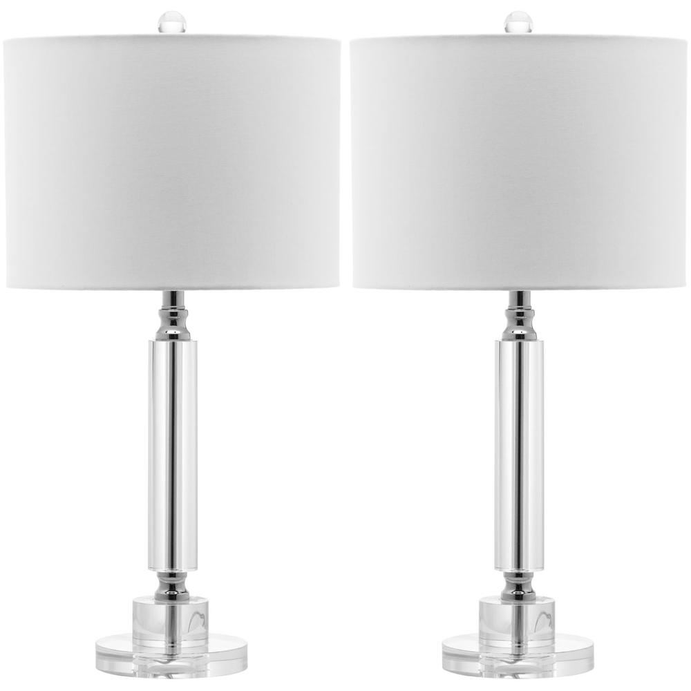 DECO 24.5-INCH H COLUMN CRYSTAL LAMP. Picture 1