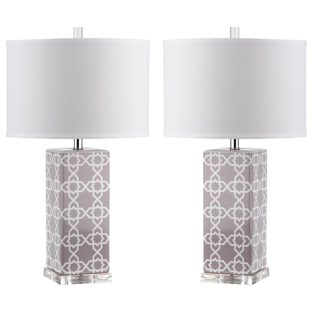 QUATREFOIL 27-INCH H TABLE LAMP, LIT4133C-SET2. Picture 1