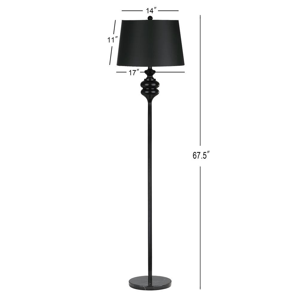 Torc 67.5-Inch H Floor Lamp, Black. Picture 1