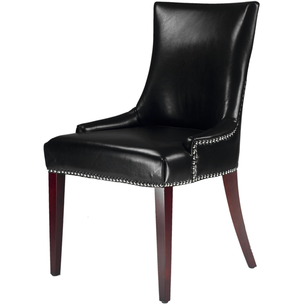 Becca Leather Dining Chair Black