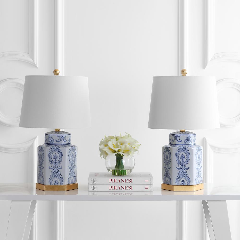 Bodin Table Lamp, Blue/White. Picture 1