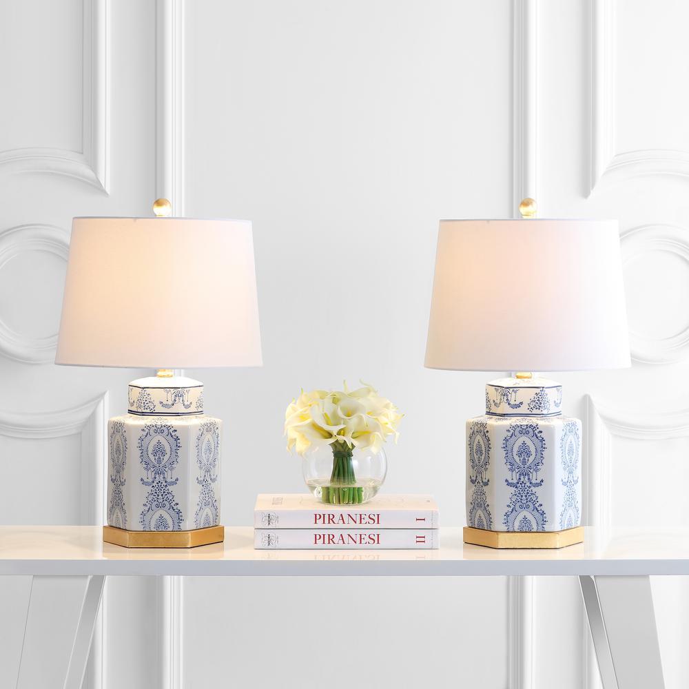 Bodin Table Lamp, Blue/White. Picture 2