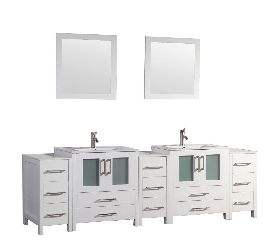 Argentina 108 Bathroom Vanity Set White