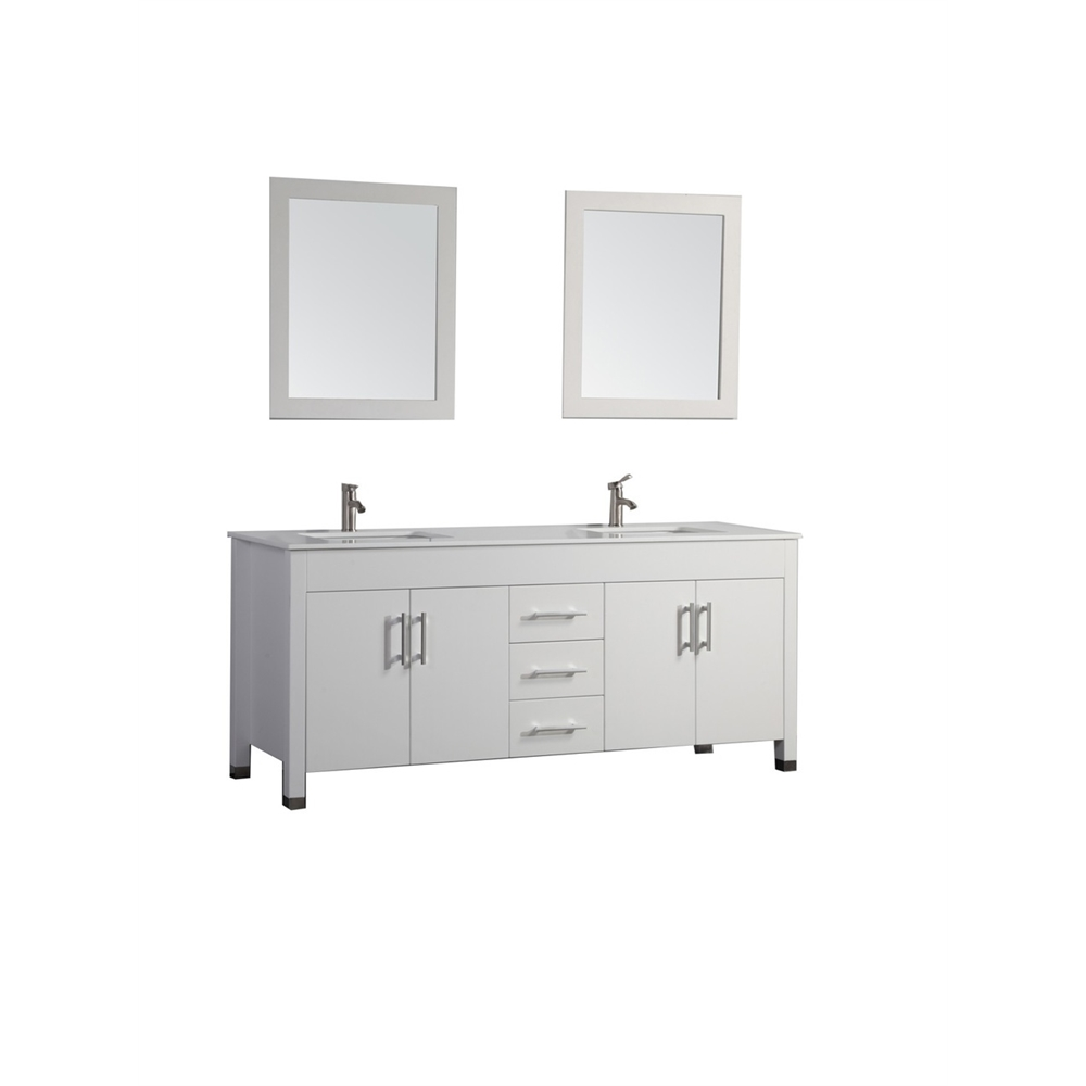 Monaco 63 Double Sink Bathroom Vanity Set White