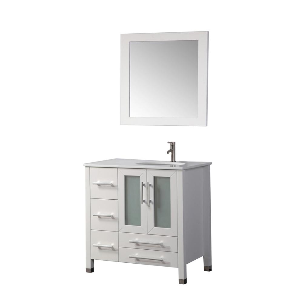 sweden 36 single sink bathroom vanity set right side white. Black Bedroom Furniture Sets. Home Design Ideas