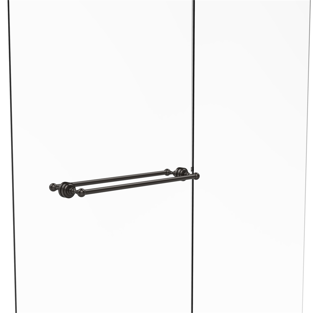 Allied Brass 421D//24-PEW Venus Collection 24 Inch Towel Bar with Dotted Accent 24-Inch Antique Pewter