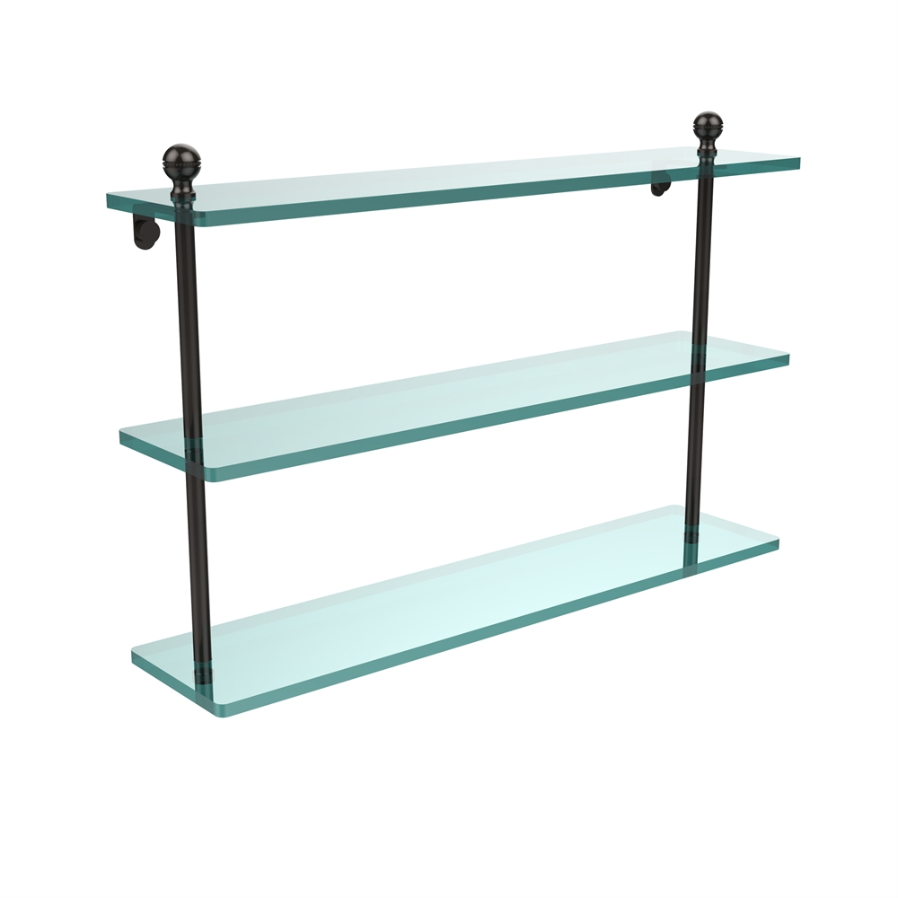 MA-5/22-ORB Mambo Collection 22 Inch Triple Tiered Glass Shelf, Oil ...