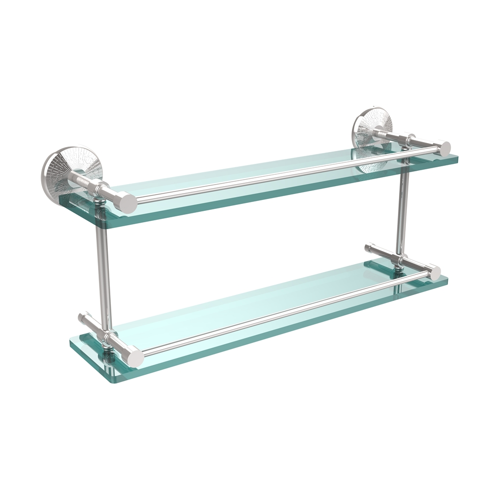 MC-2/22-GAL-PC Monte Carlo 22 Inch Double Glass Shelf with ...