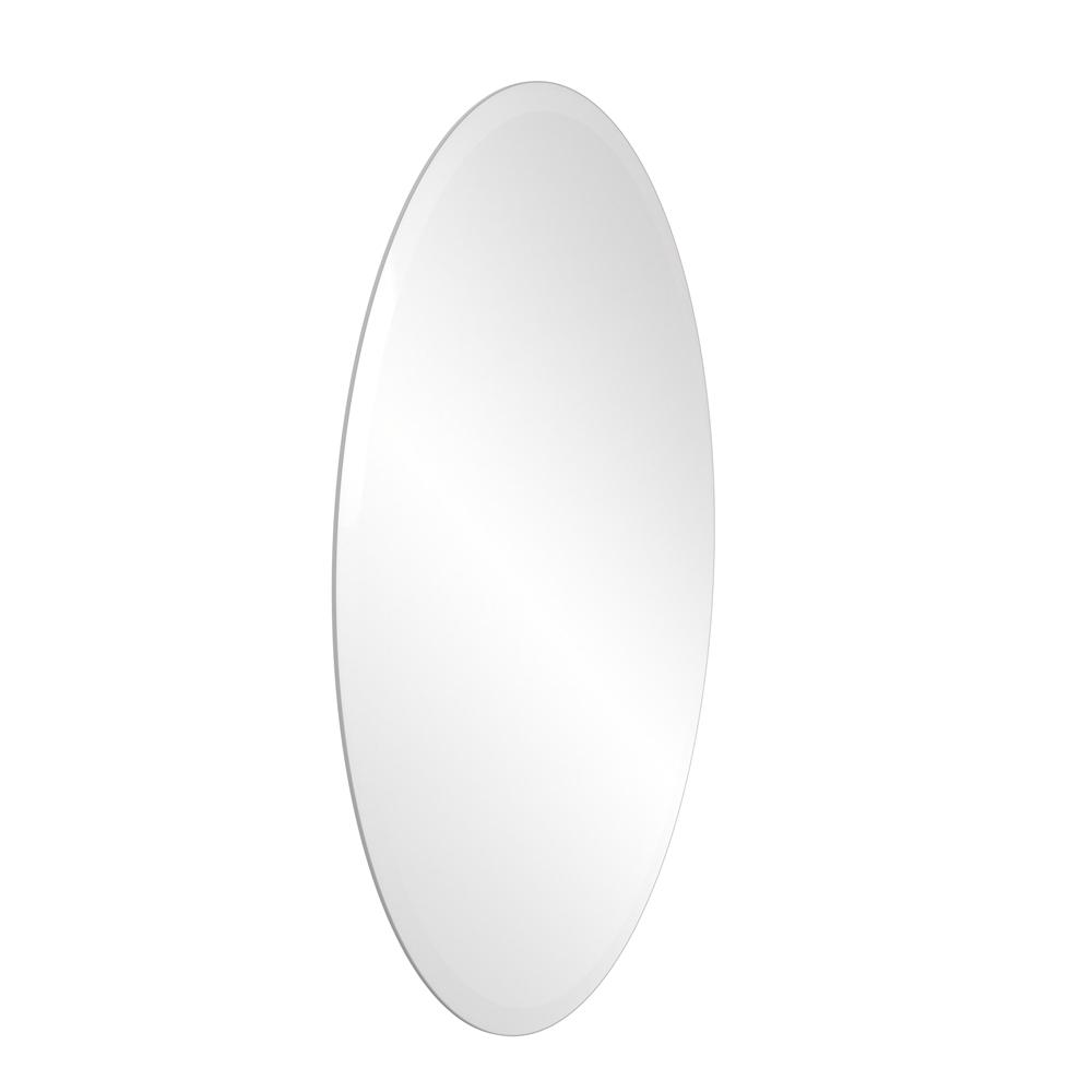Mrov 95 Frameless Oval Wall Mounted Mirror