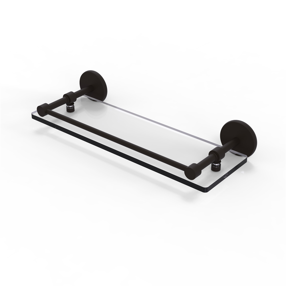 P1000-1/16-GAL-ORB 16 Inch Tempered Glass Shelf with Gallery Rail ...