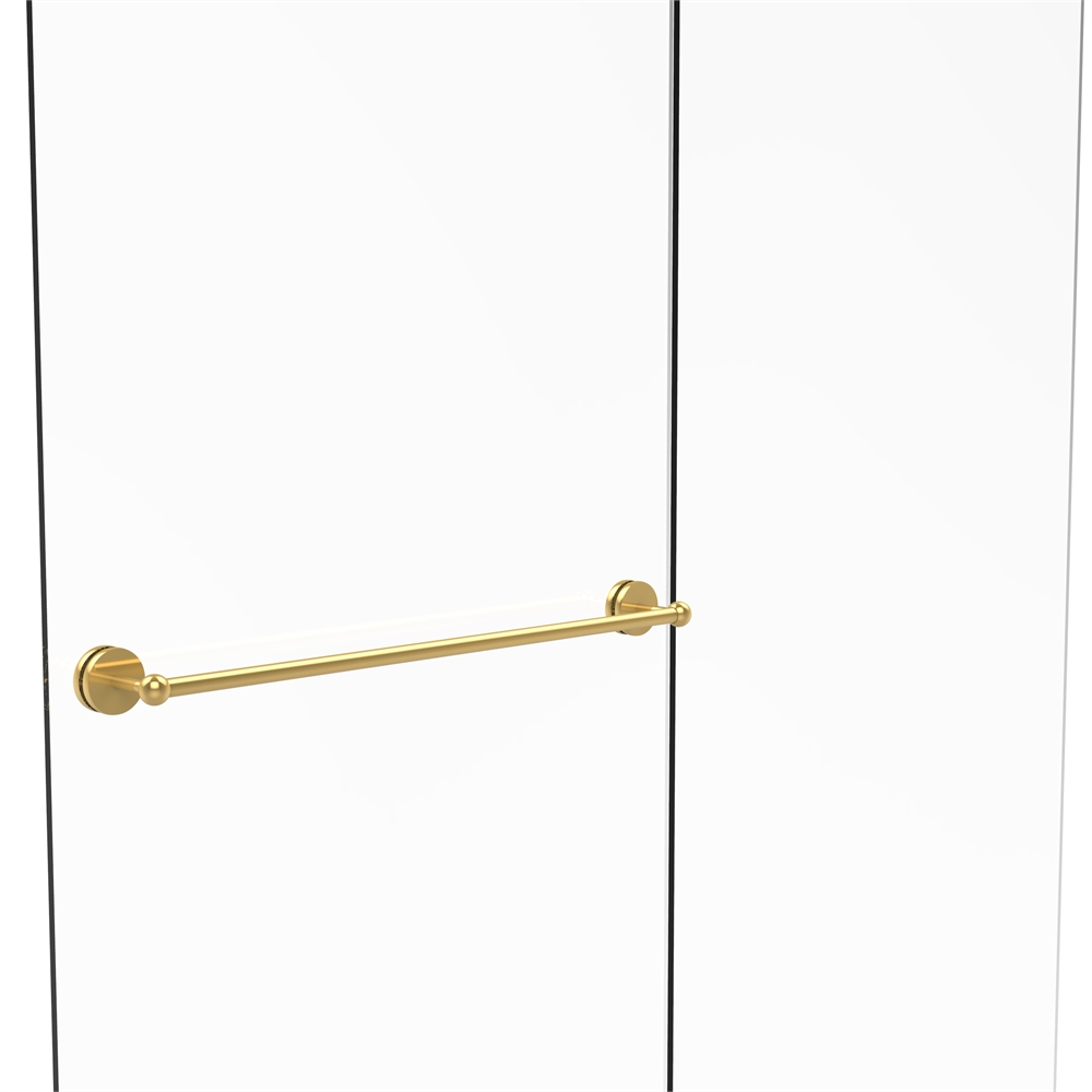 Brushed Bronze Allied Brass 404-18BB Contemporary 18 Inch Back Shower Door Pull
