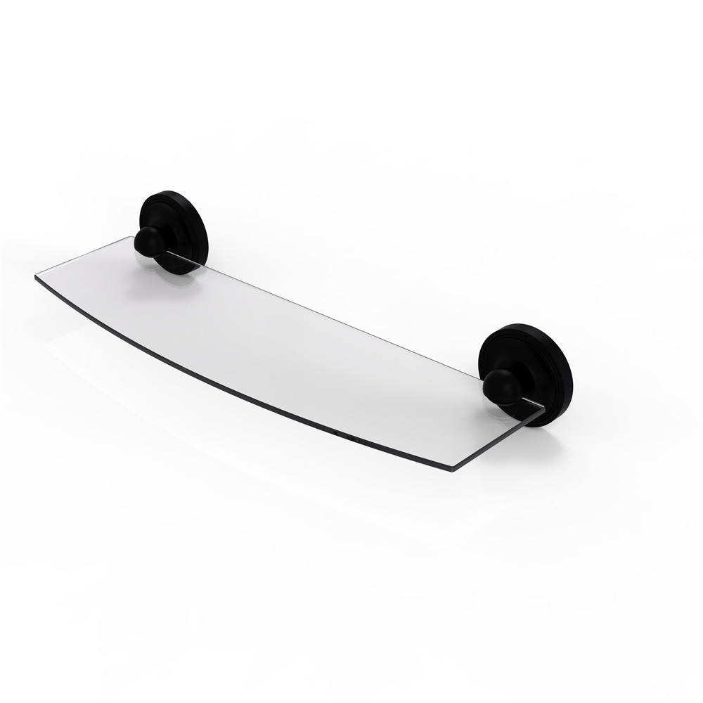 PR-33/18-BKM Prestige Regal Collection 18 Inch Glass Shelf, Matte Black