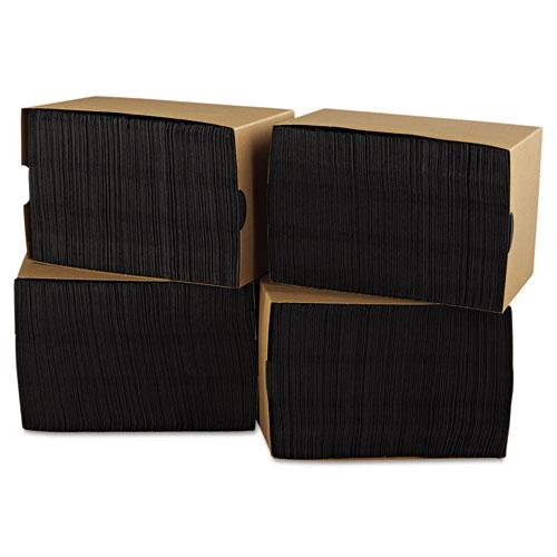 Beverage Napkins, 2-Ply, 9 1/2 x 9 1/2, Black, 1000/Carton. Picture 2