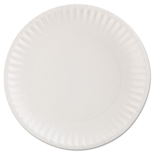 """Gold Label Coated Paper Plates, 9"""" dia, White, 100/Pack, 10 Packs/Carton. Picture 2"""