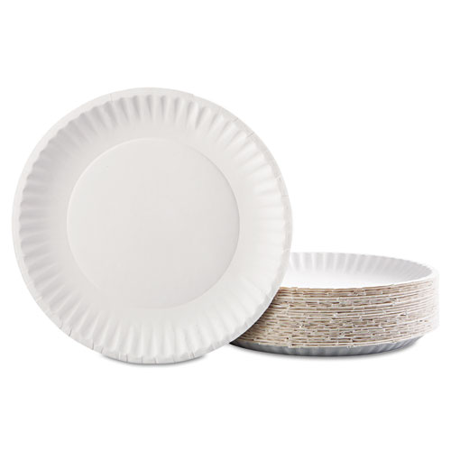 """Gold Label Coated Paper Plates, 9"""" dia, White, 100/Pack, 10 Packs/Carton. Picture 3"""